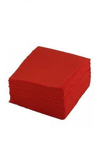 Салфетки бумажные красные 24*24 400шт