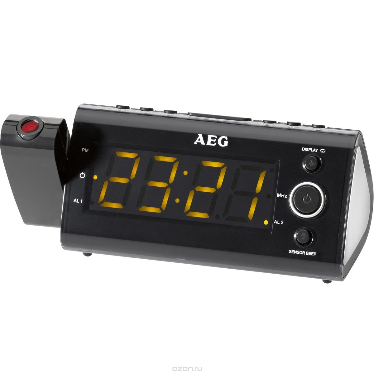 AEG MRC 4121 P Sensor, Black радиочасы