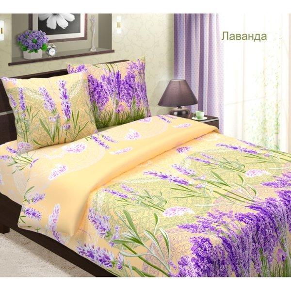 Комплект постельного белья 1.5-спальный бязь Лаванда