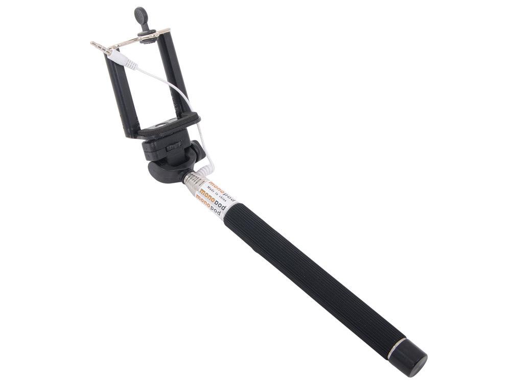 Палка для селфи LP MPD-4 (монопод с кнопкой съемки через разъем гарнитуры,черный)