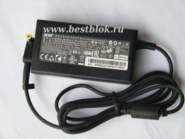 Адаптер блок питания для ноутбука ACER E5-573 ES1-731 ADP-65VH F PA-1650-86 N15Q1 A11-065N1A 19V-3,42A 65W (5,5*1,7mm)