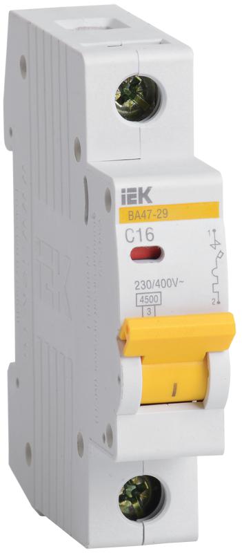 MVA20-1-040-C IEK Выключатель автоматический однополюсный 40А C ВА47-29 4.5кА