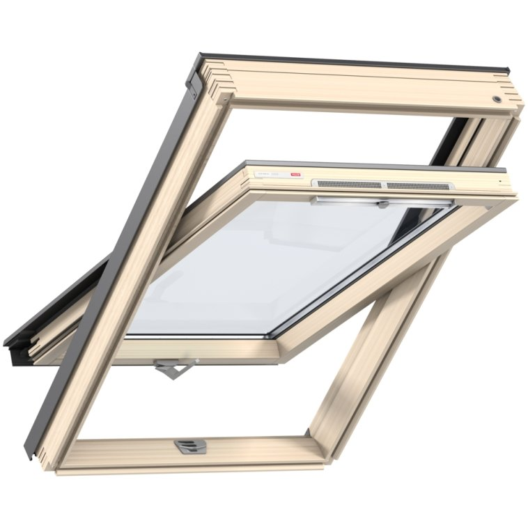 Окно мансардное Velux Optima Стандарт GZR 3050B (CR04) 550х980 мм ручка снизу