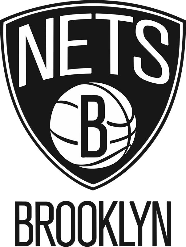 Интерьерная наклейка Brooklyn Nets 10 см х 13 см