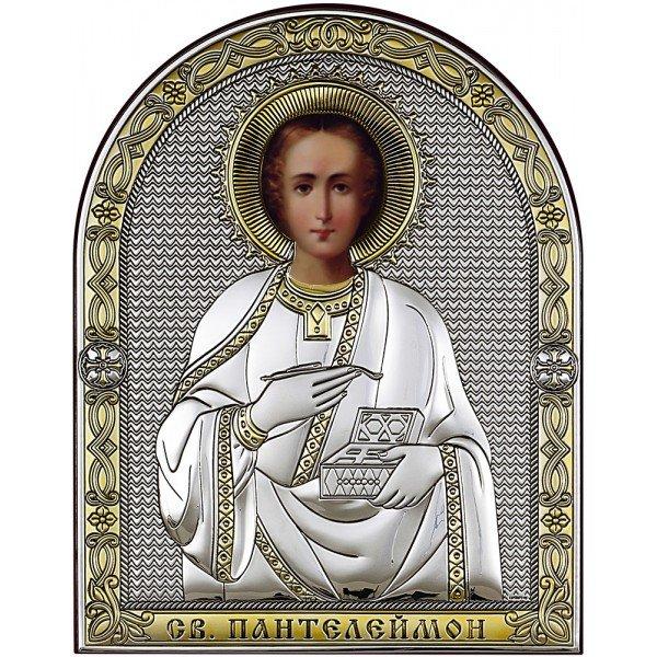 Икона Святой Пантелеймон, Размер 14х17