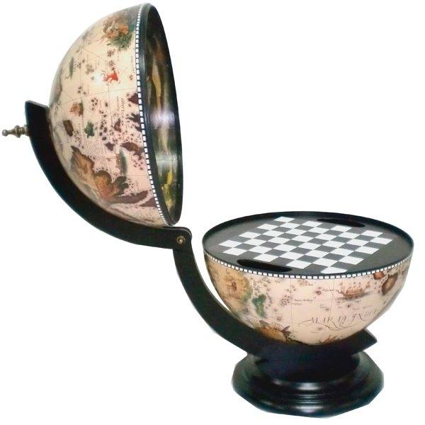 Глобус-бар, игра настольная Шахматы, L38 W33 H48 см