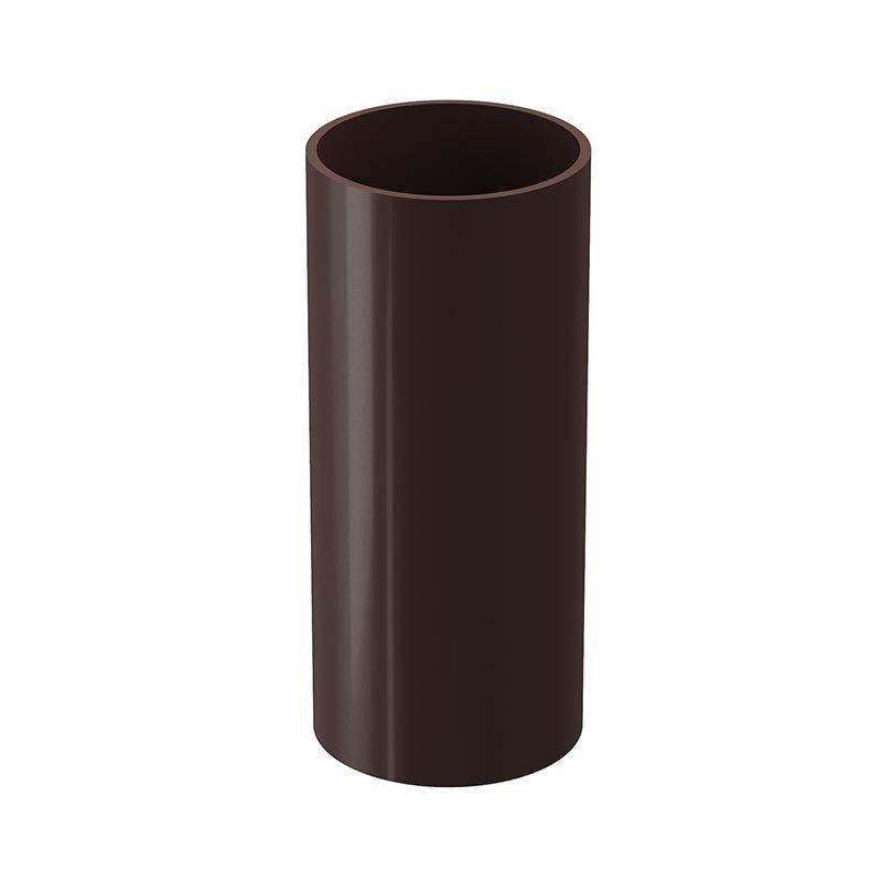 Водосток Дёке LUX. Труба водосточная 3м D 100 мм Docke, Шоколад