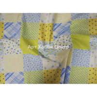 Ткань Патч голубые цветы 110см 100% хлопок 1м