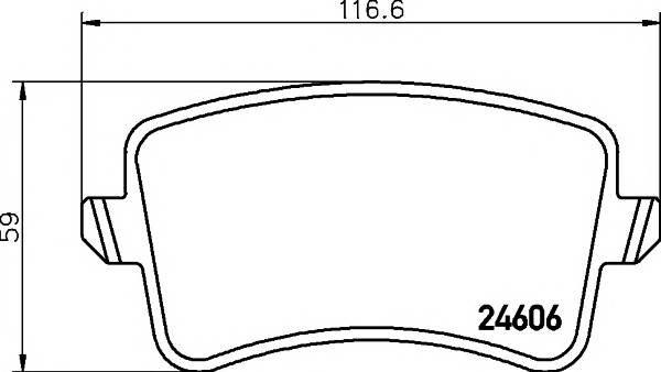 Колодки дисковые задние audi a4/a5 1.8tfsi-3.2fsi/2.7tdi 07 Textar 2460601