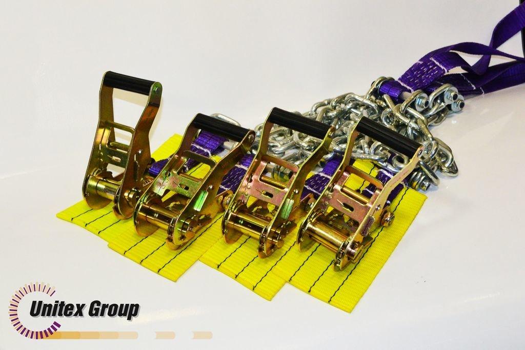 Комплект браслетов противоскольжения R21-R22,5 с храповым механизмом 4шт