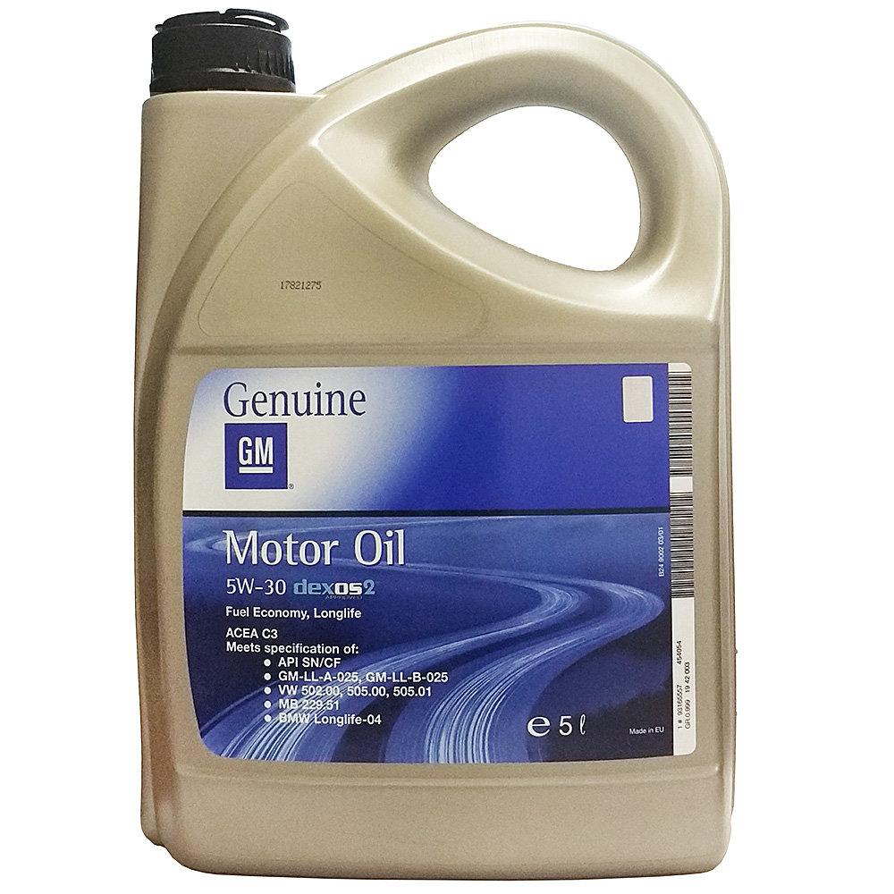 Синтетическое моторное масло GM Dexos2 5W30 (1942003) 5л GM-5W30-5L