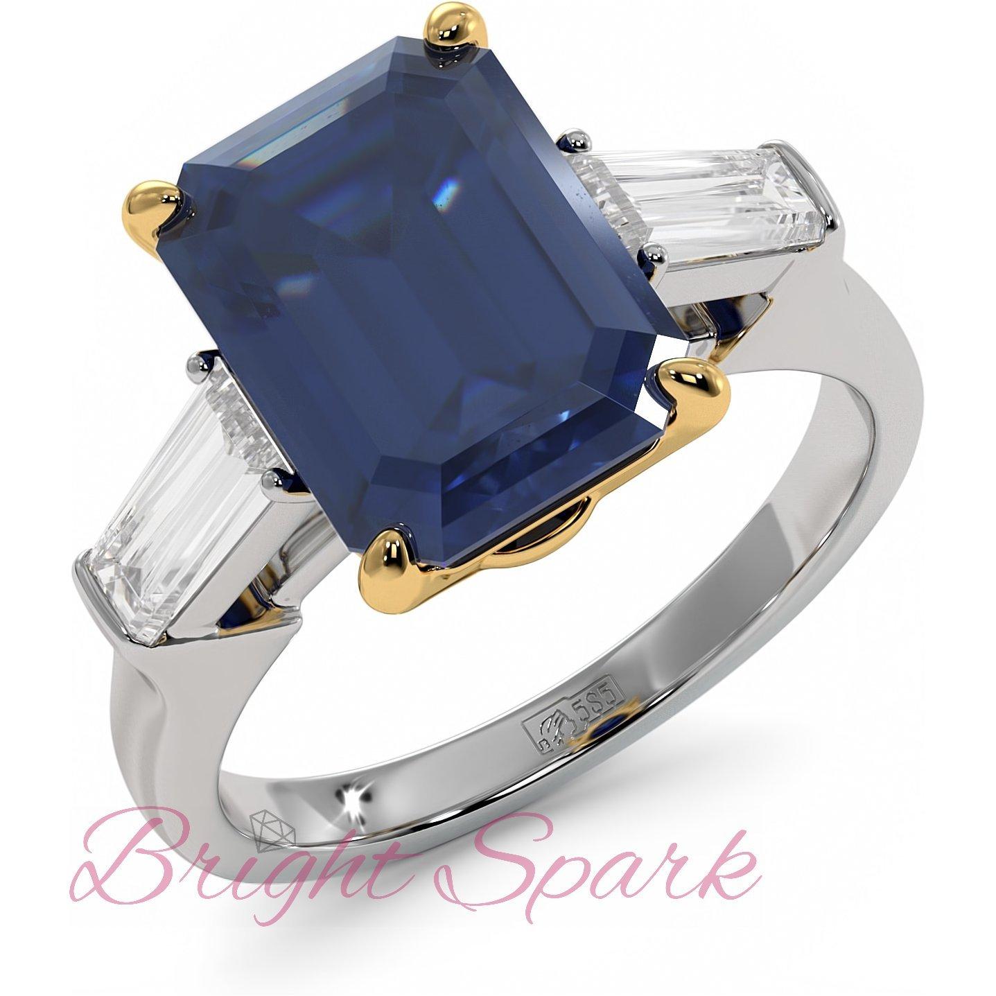 Кольцо в стиле Графф с сапфиром Nice Sapphire 6,5 карат