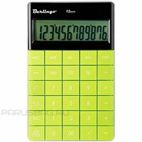 Калькулятор настольный Berlingo, 12 разрядов, CIG_100, двойное питание, 165*105*13мм, зелёный