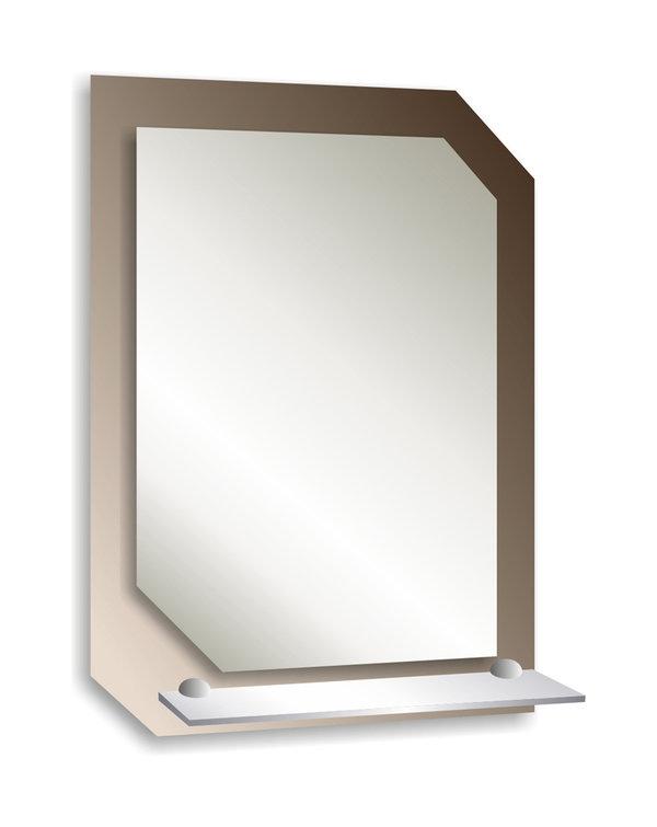 Зеркало с полкой Квадро