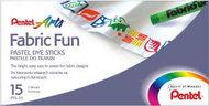 """Мелки, пастель, для ткани """"Fabric Fun"""" , 15 цветов"""