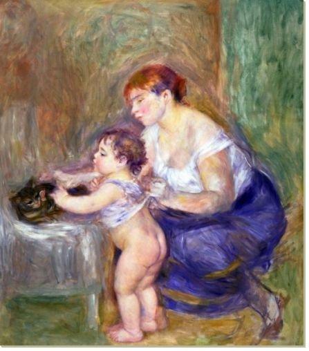 Постер Мать с ребенком, 93x106, Люди, Семья, Французская