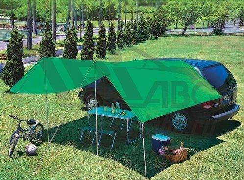 Тент натяжной с креплением ваккуум. присосками на крыше автомобиля frms handy awning set