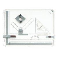 Доска чертежная BRAUBERG А3, 505х370 мм, с рейсшиной, треугольником и чертежным узлом