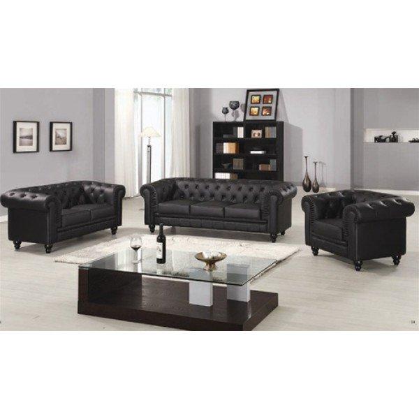 Комплект кожаных диванов Defy Furniture Честерфилд