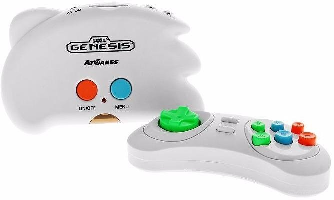 SEGA Genesis Nano Trainer + 390 игр (белый)
