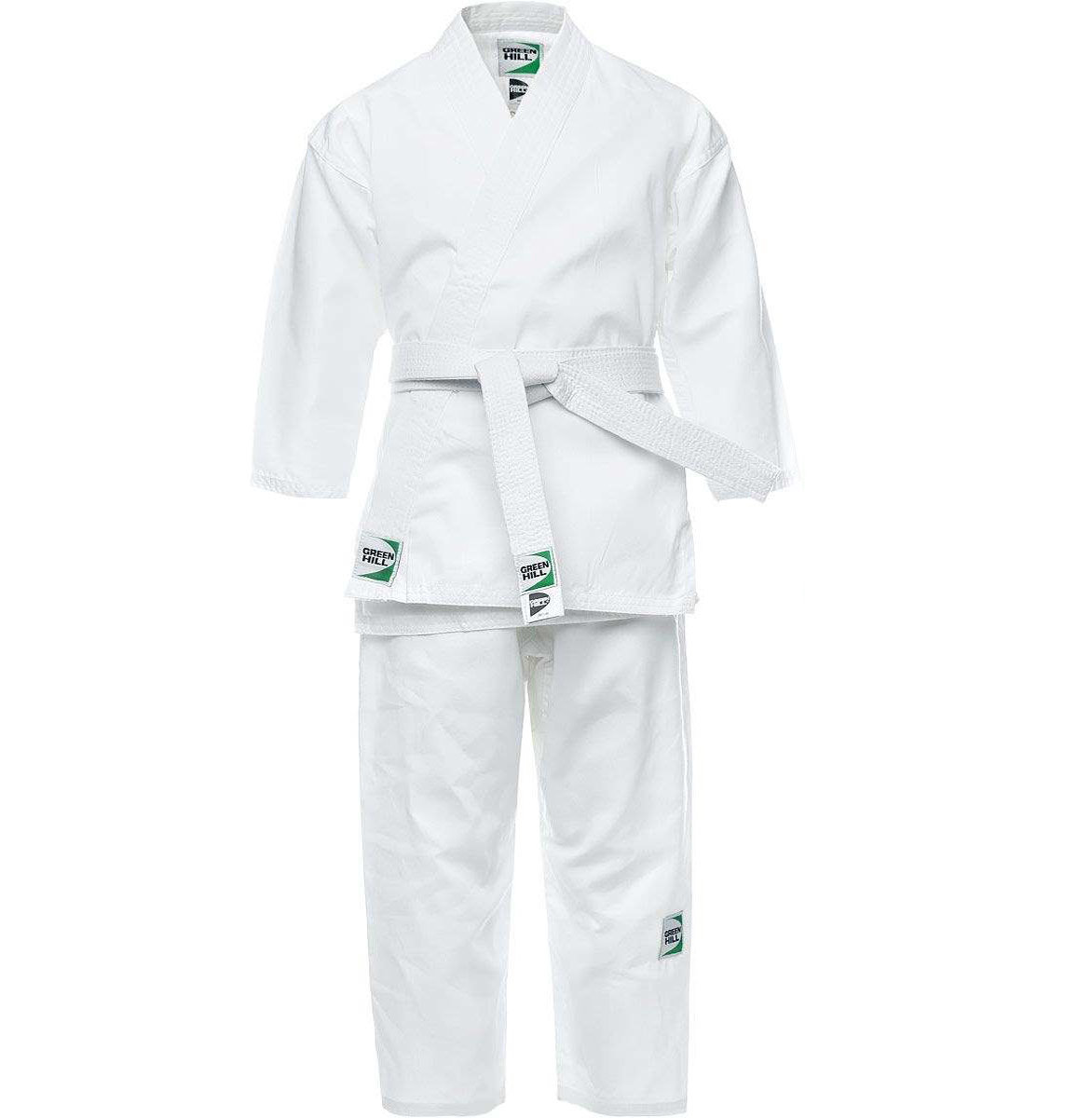 Кимоно для айкидо Green Hill AKS-10495, 160, белый, для разного уровня, хлопок - 65%, полиэстер - 35%