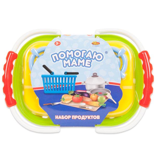 """Набор игрушечных продуктов для резки на липучках """"Помогаю маме"""", 23 предмета (3 в асс) Abtoys PT-00472"""