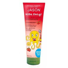 Детская зубная паста Jason Детская линия: Детская зубная паста со вкусом клубники (All Natural Toothpaste Strawberry), 119гр