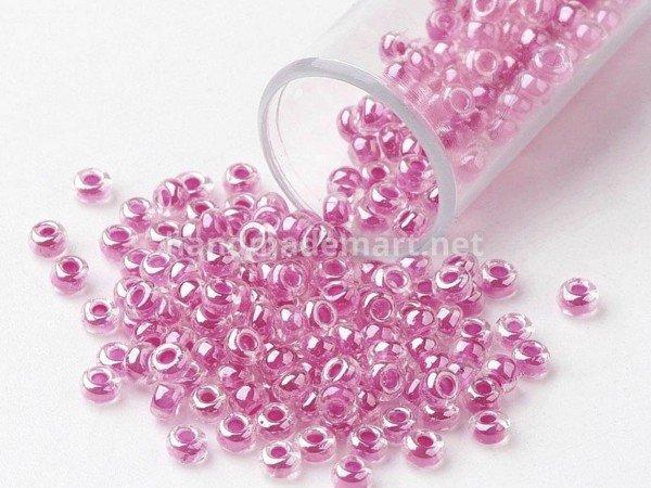 Бисер FGB®, Имитация Японского, Круглый №10, 2.3 мм, Яркий розовый окрашен внутри , Цена за: 10 г