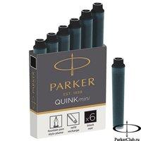 1950407 Черные мини картриджи Parker (Паркер) Quink Mini Cartridges Black 6 шт