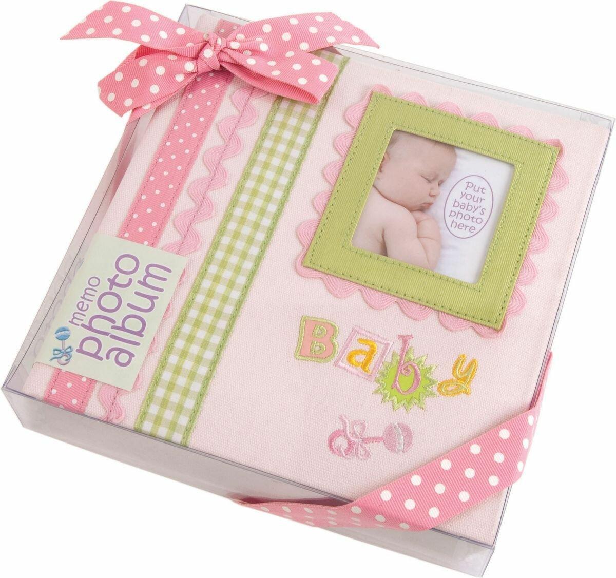 """Фотоальбом Innova """"Baby Memories Pink Memo"""", цвет: розовый, 180 фотографий, 10 x 15 см"""