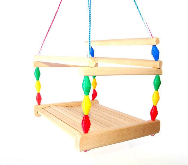 Качели детские деревянные