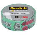 Клейкая лента Scotch декоративная Washi город 15мм*10м