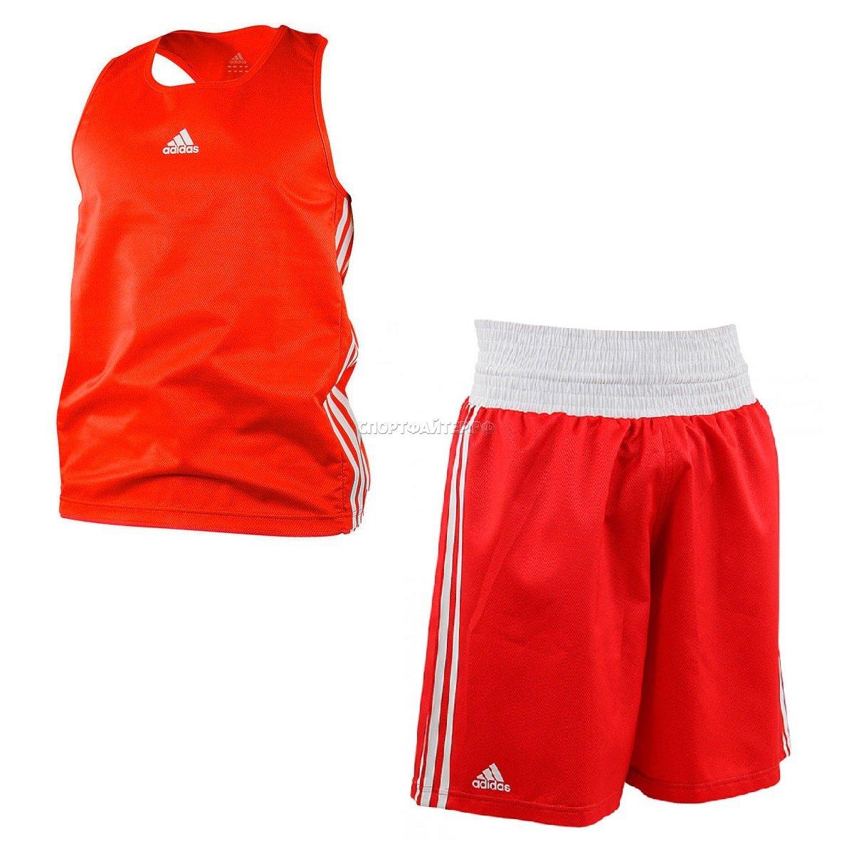 Комплект боксерской формы Adidas micro diamond boxing - красный