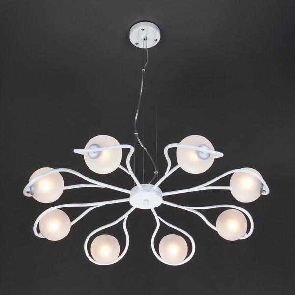 Подвесная люстра Camomile 70089/8 белый с серебром (Eurosvet)