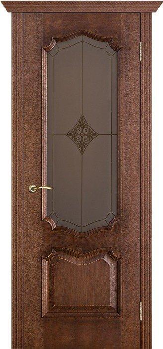 Межкомнатные двери Белорусские Двери (Белорусские Двери) Белорусские Двери Шпон Премьера Голд Со стеклом Ромб