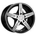 Racing Wheels H-458 6.5x15 4x100 ET 35 Dia 67.1 BK F/P - фото 1