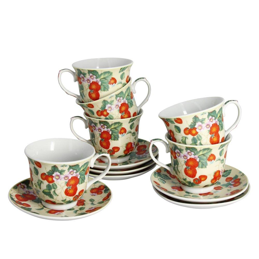 чайный набор MATISSA Чайный набор Земляника Matissa, 220мл, 12 предметов