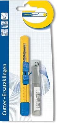 Нож, Office Point, 9 мм, канцелярский, запасные лезвия, в блистере