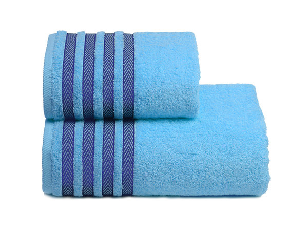 полотенце махр. cleanelly дзефиро 50х90см голубое хлопок 100%