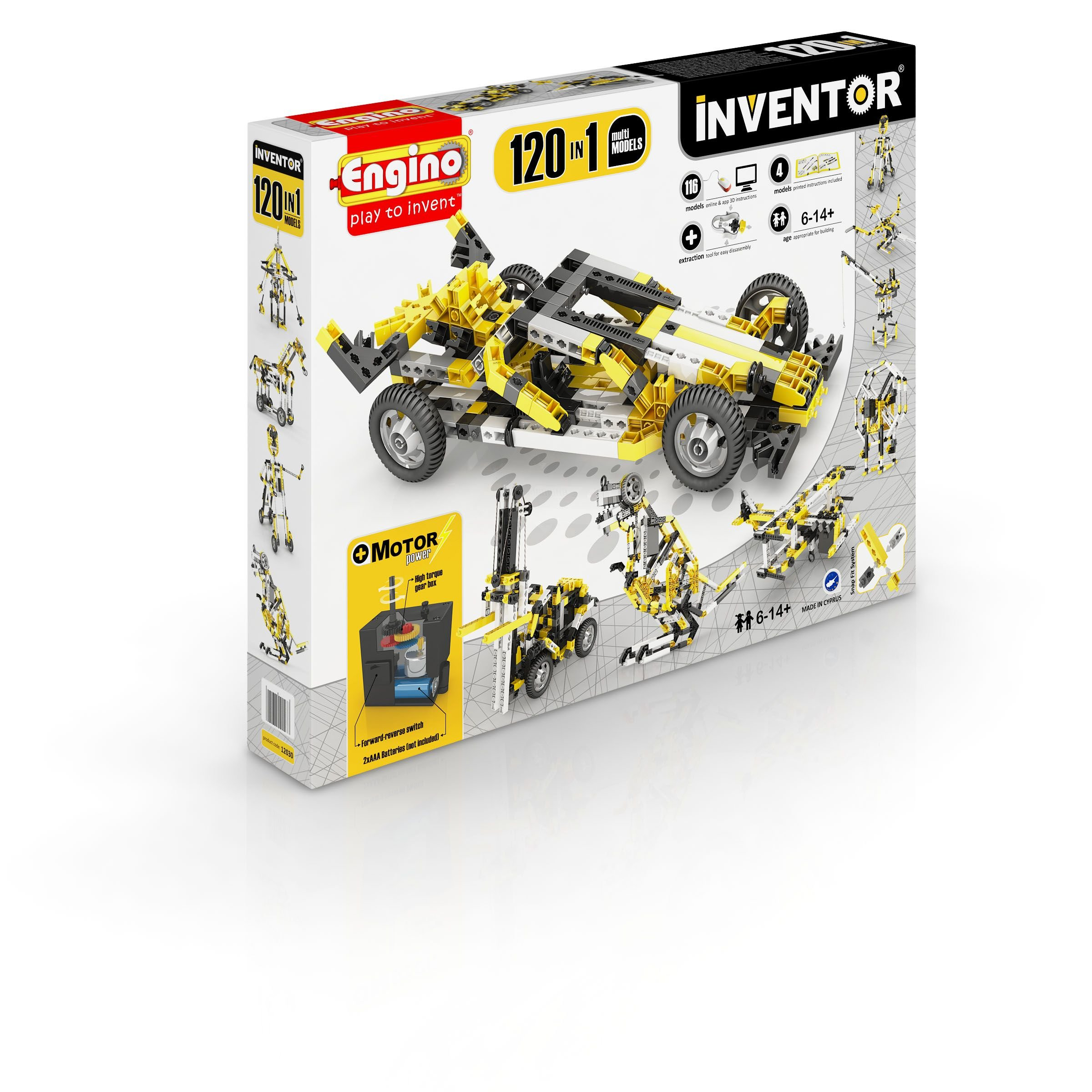 Конструктор Engino Inventor С мотором Набор из 120 моделей 12030