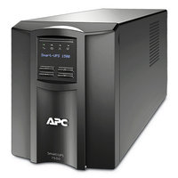 ИБП APC by Schneider Electric - Smart-UPS, SMT1500I, 1500VA/1000W, Line-Interactive, in (230V 1xIEC-320 C14), out (8xIEC-C320 C13), Hot Swap User Replaceable Batteries, LCD, Tower, цвет Чёрный