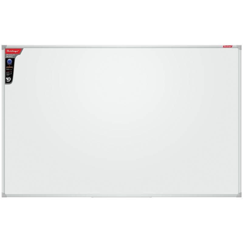Доска магнитно-маркерная BERLINGO 90x120 см Premium, алюминиевая рама, полочка