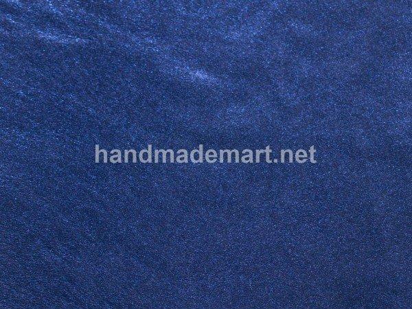 Натуральная Кожа Наппа, италия, Синяя Металлик, Мягкая, Толщина 0,6 мм, Размер 21х14.5 см, Цена за: 3 кв. дм