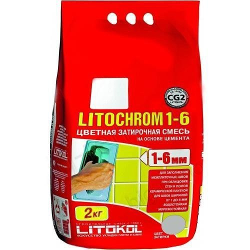 Затирка LITOCHROM 1-6 С.50 светло-бежевая 2 кг -- LITOKOL
