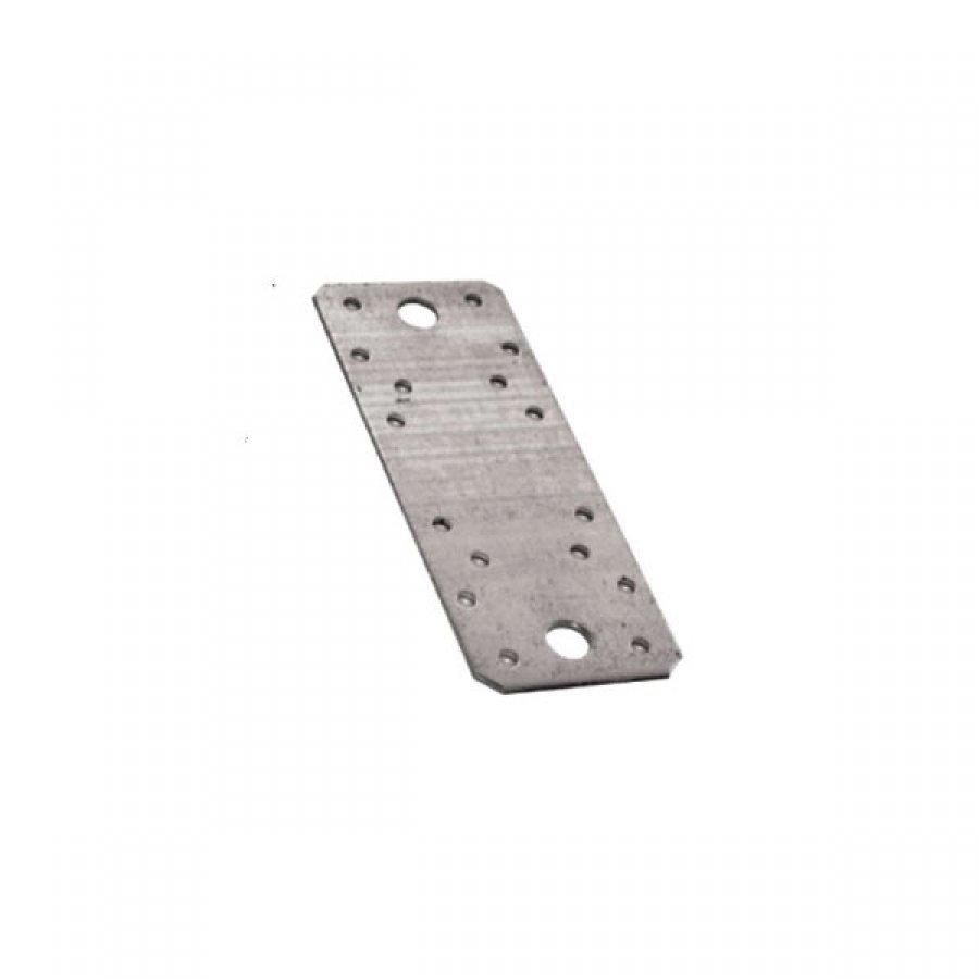 Пластина KP размер 140х55х25 мм крепежная перфорированная стальная оцинкованная