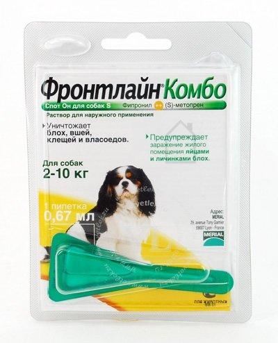 Инсектоакарицид Фронтлайн Комбо S для собак от 2 до 10кг