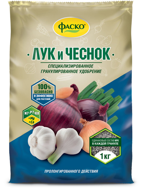 """Удобрение минеральное гранулированное """"Лук и чеснок"""", 1 кг"""