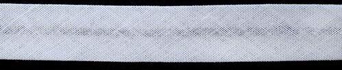 Косая бейка, хлопчатобумажная, цвет: 001 белый, 15 мм x 132 м, арт. 7700542