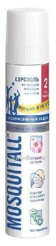 Mosquitall гипоаллергенная защита аэрозоль от комаров/мокрецов/москитов 150мл