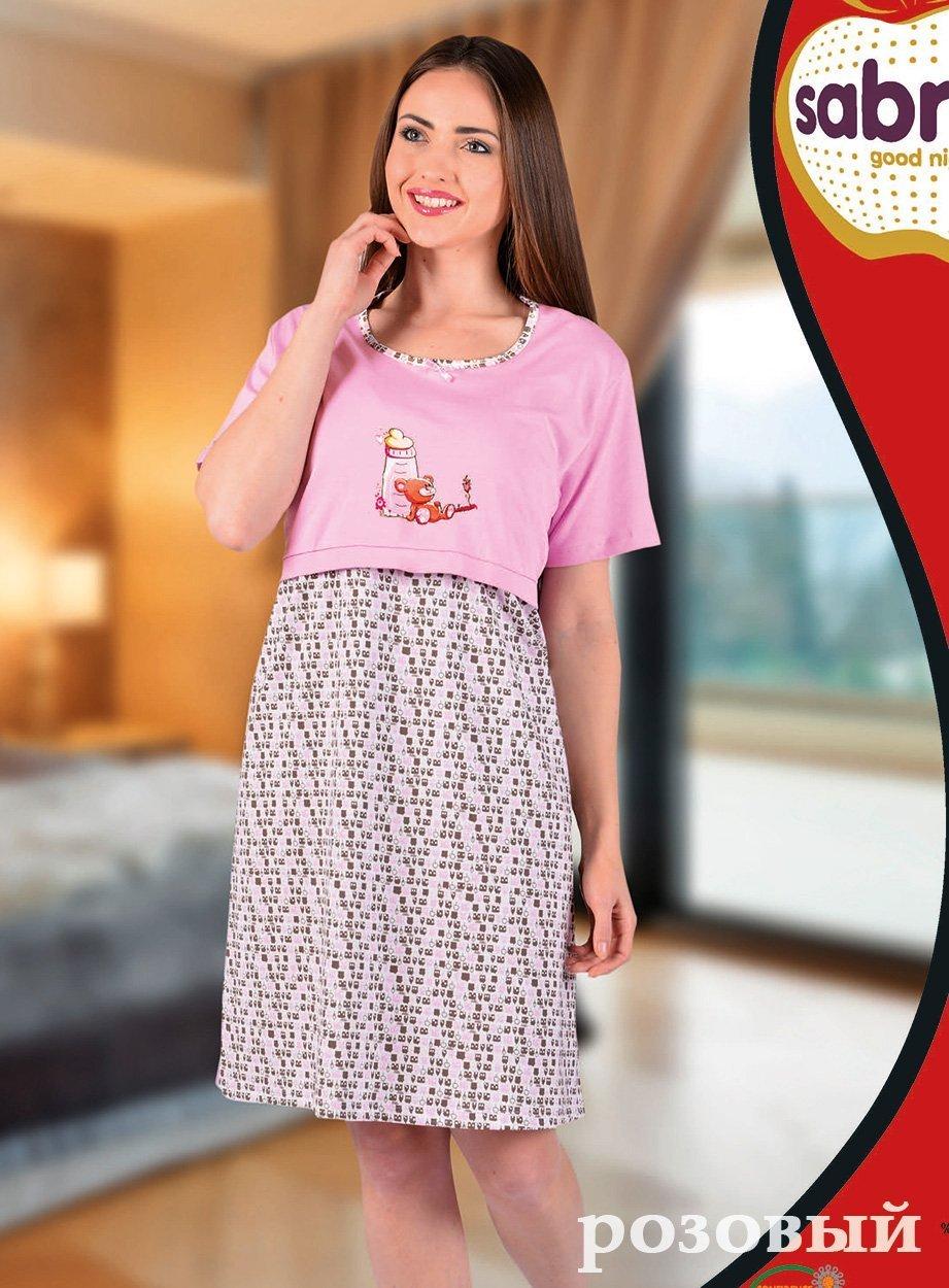 Рубашка для кормящих мам, средней длины 22627 Sabrina,